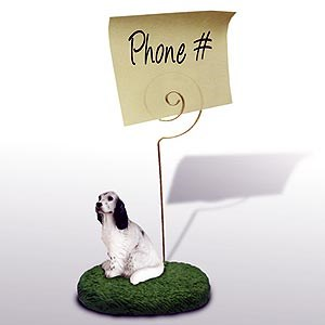 English Setter Note Holder