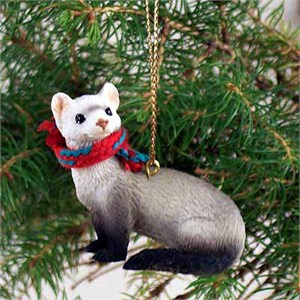 Ferret Tiny One Christmas Ornament