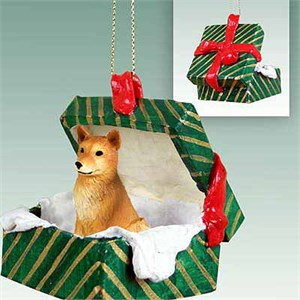 Finnish Spitz Gift Box Christmas Ornament