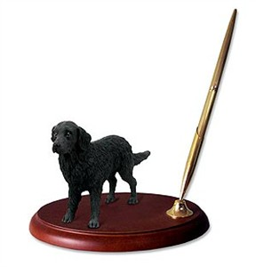 Flat-Coated Retriever Pen Holder