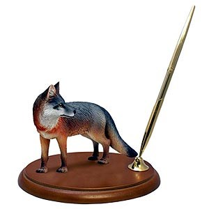 Fox Pen Holder (Gray)