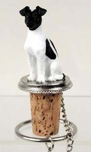 Fox Terrier Bottle Stopper (Smooth)