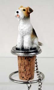 Fox Terrier Bottle Stopper (Wire Haired)