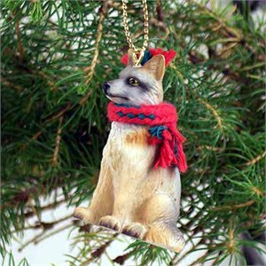 Fox Tiny One Christmas Ornament Gray