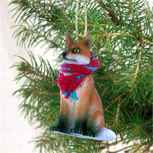 Fox Tiny One Christmas Ornament Red