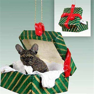 French Bulldog Gift Box Christmas Ornament