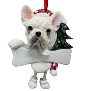 French Bulldog Christmas Tree Ornament - Personalize