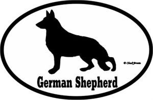 German Shepherd Bumper Sticker Euro