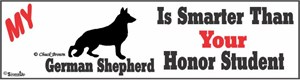 German Shepherd Bumper Sticker Honor Student