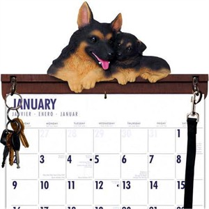 German Shepherd Calendar Caddy