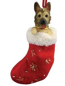 German Shepherd Christmas Stocking Ornament