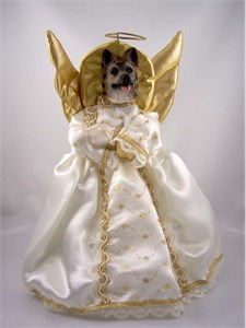German Shepherd Angel Christmas Tree Topper