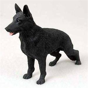German Shepherd Figurine Black