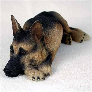 German Shepherd Figurine Tan-Black MyDog