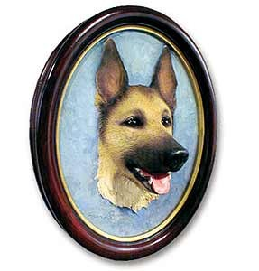 German Shepherd Sculptured Portrait