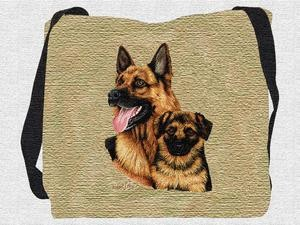 German Shepherd Tote Bag (Puppy)