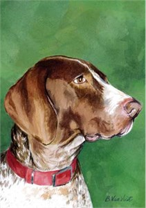 German Short Haired Pointer House Flag