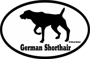 German Shorthaired Pointer Bumper Sticker Euro