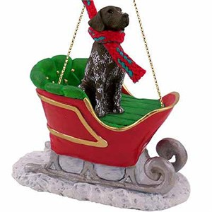 German Shorthaired Pointer Sleigh Ride Christmas Ornament