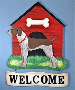 German Shorthaired Pointer Welcome Sign
