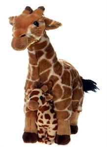 Giraffe With Baby Plush Stuffed Animal 12""