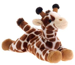 Laydown Giraffe Plush Stuffed Animal 15""
