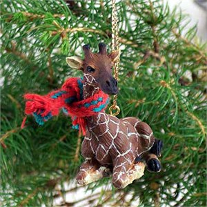 Giraffe Tiny One Christmas Ornament