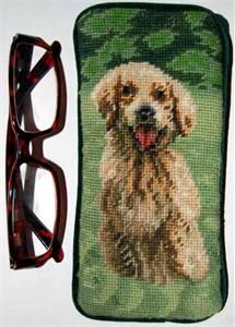 Golden Retriever Eyeglass Case Puppy