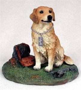 Golden Retriever Figurine MyDog-Stump