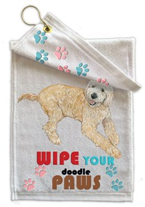 Goldendoodle Paw Wipe Towel