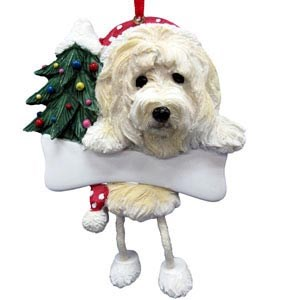 Goldendoodle Christmas Tree Ornament - Personalize