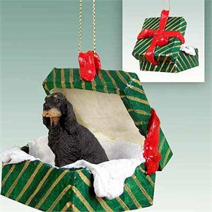 Gordon Setter Gift Box Christmas Ornament
