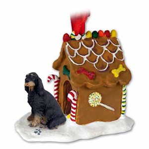 Gordon Setter Gingerbread House Christmas Ornament