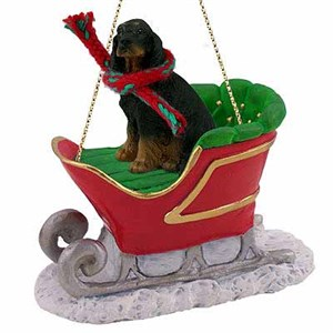 Gordon Setter Sleigh Ride Christmas Ornament