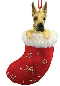 Great Dane Christmas Stocking Ornament