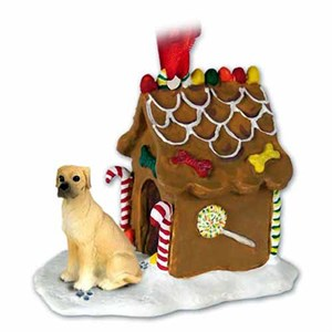 Great Dane Gingerbread House Christmas Ornament Fawn Uncropped