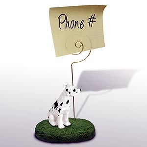 Great Dane Note Holder (Harlequin Uncropped)