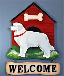 Great Pyrenees Welcome Sign