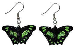Green Malachite Butterfly Earrings True to Life