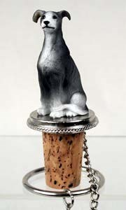 Greyhound Bottle Stopper (Gray)