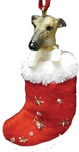 Greyhound Christmas Stocking Ornament