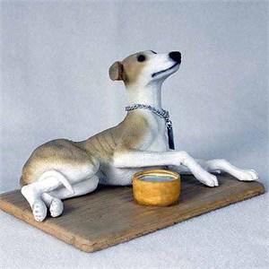 Greyhound Figurine Tan-White MyDog