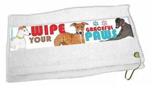 Greyhound Paw Wipe Towel