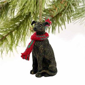 Greyhound Tiny One Christmas Ornament Brindle