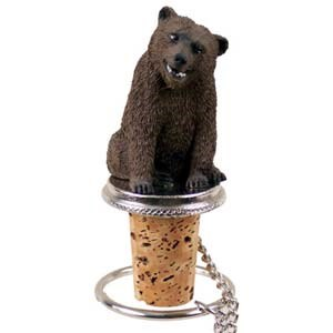 Grizzly Bear Bottle Stopper