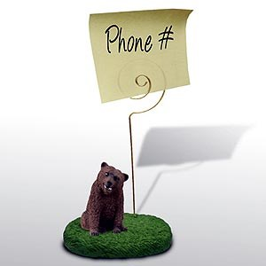Grizzly Bear Note Holder
