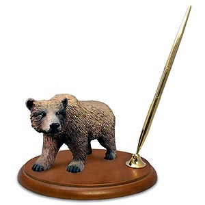 Grizzly Bear Pen Holder