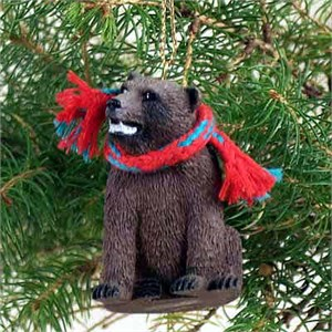Grizzly Bear Tiny One Christmas Ornament