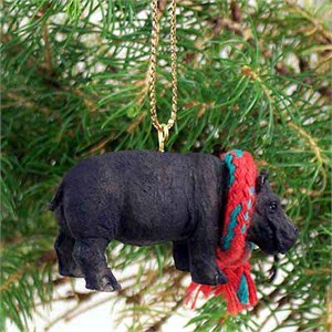 Hippopotamus Tiny One Christmas Ornament