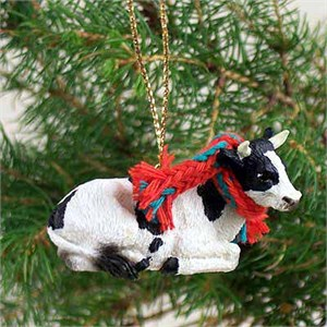 Holstein Bull Tiny One Christmas Ornament